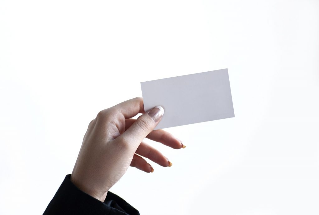 Sales of business cards plummeted during the pandemic as people couldn't hand them out